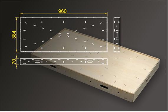 Segmentbau 384x960 mm