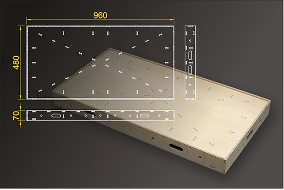 Segmentbau 480x960 mm