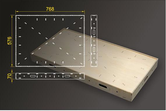 Segmentbau 576x768 mm