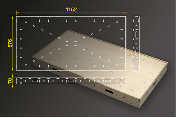 Segmentbau 576x1152 mm