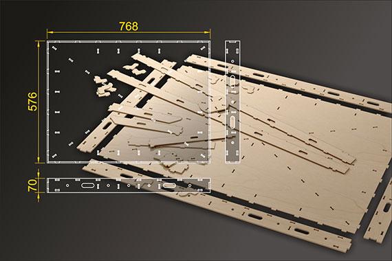 Bausatz: Segmentbau 576x768 mm