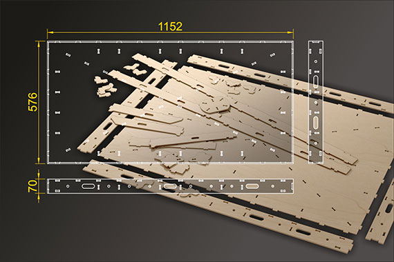 Bausatz: Segmentbau 576x1152 mm