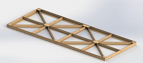 """Bausatz: Unterbau """"Puzzle"""" 1200х2400 mm"""