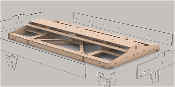 Gerades Fremo Modul H0, 546x1000 mm, 2-gleisig