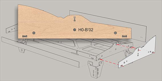 Ende B02 fur 1-gleisig modules
