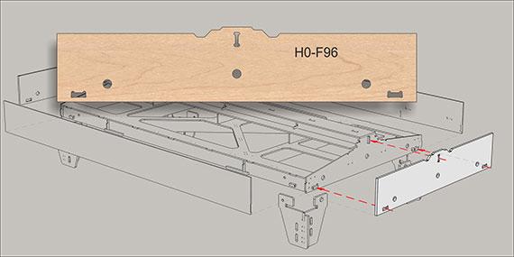 Ende F96 fur 1-gleisig modules
