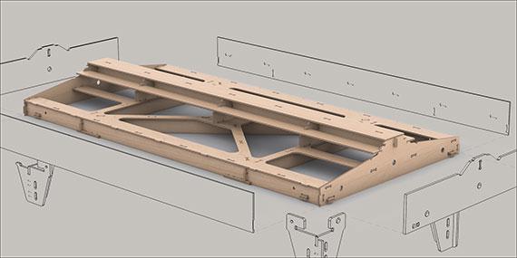 Bausatz: Ger. Fremo Modul H0, 500x1000 mm, 1-gl.