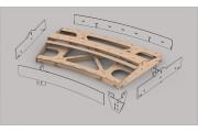 Bausatz: Geb. Fremo Modul H0, R2000 mm, 22,5°, 1-gl.