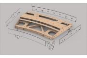 Bausatz: Geb. Fremo Modul H0, R2000 mm, 22,5°, 2-gl.