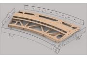 Bausatz: Geb. Fremo Modul H0, R2000 mm, 30°, 2-gl.