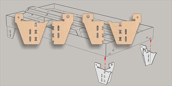 Montagesatz Beine Transit
