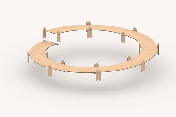 Gleiswendel H0 R3-R4, 1 oder 2-gl. Aufbaukreis